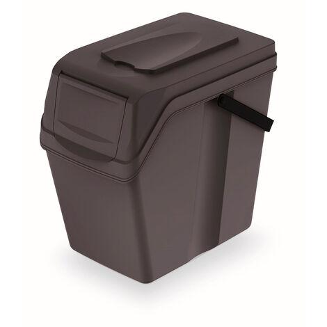 Ancho x 33,5 cm Alto Largo x 29,3 Prosperplast Cubo de Reciclaje 25L Sortibox de plastico con Tapa en Color Gris 39,2