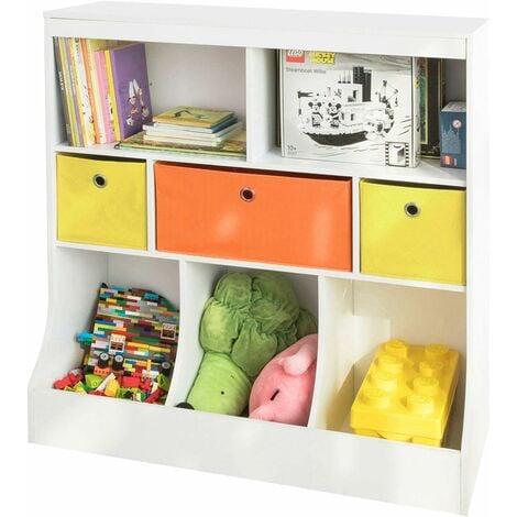 PALAKLOT Meuble de rangement pour jouets pour enfants /étag/ère et organiseur de Grande armoire Bo/îte /à jouets avec /étag/ère et /étag/ère en tissu non tiss/é ou en plastique amovible