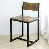 Table de Salle à Manger avec 2 Chaises Lot Table et 2 Chaise de Style Industriel,SoBuy OGT36-N