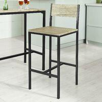 Ensemble table de bar + 2 chaises, Set de 1 Table + 2 Chaises, Table haute cuisine SoBuy® OGT03-N