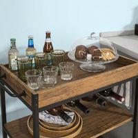 Chariot de Service Desserte à roulettes Chariot Commode Roulant avec Plateau Repas Amovible,FKW56-N SoBuy®