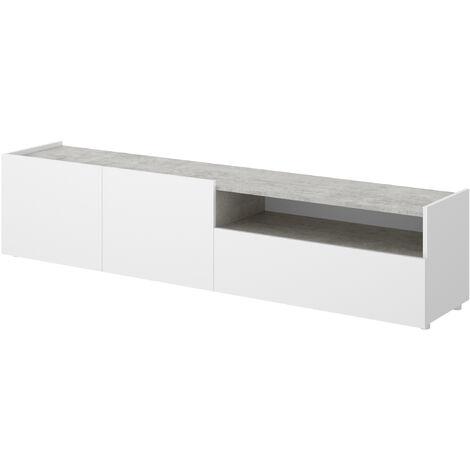 Mueble Bajo TV -Blanco / Grafito- 45 x 200 x 42 cm