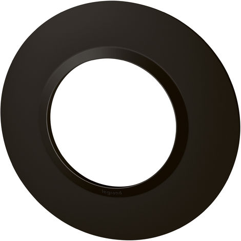 Plaque ronde Dooxie - Noir velours - 1 poste - Legrand