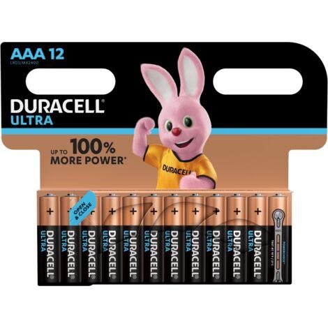 DURACELL BLISTER DE 12 PILES ALCALINES ULTRA POWER TYPE AAA 1.5V (LR03)