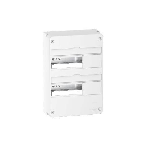 Coffret en saillie Resi9 - 2 rangées de 13 modules - Blanc