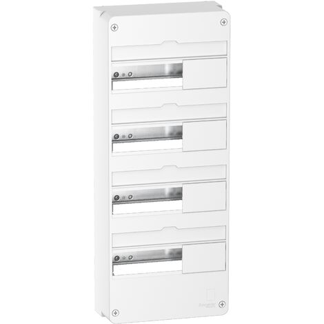 Coffret en saillie Resi9 - 4 rangées de 13 modules - Blanc