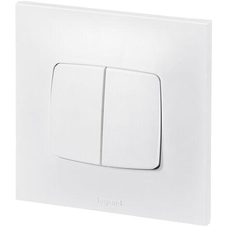 Double poussoir Neptune - 6A - Blanc