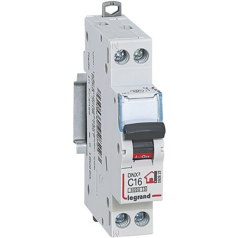 Disjoncteur Phase + Neutre - 16A - bornes à vis - 1 module