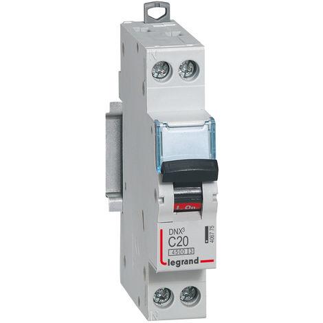 Disjoncteur Phase + Neutre - 20A - bornes à vis - 1 module