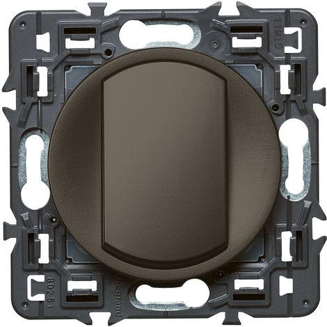 Interrupteur ou va-et-vient doigt large Céliane Soft - 10A - Graphite