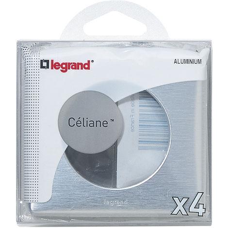 Lot de 4 plaques Céliane - Aluminium