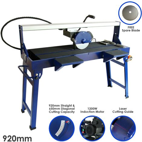 Wet Saw Tile Cutter Stand Bench Bridge Table Electric Frame Diamond Blade Cutting 920mm 1200W