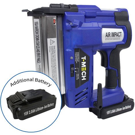 T-Mech Nail & Staple Gun with Additional Battery