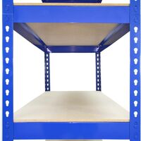 3 x Q-Rax Warehouse shelves 120cm