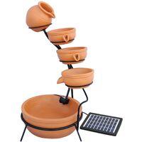 Terracotta 4 Tier Spilling Bowls Water Feature