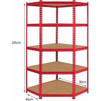 Monster Racking Z-Rax Corner Shelving Unit & 2x 90cm Garage Storage Bays, Red