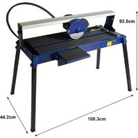 Wet Saw Tile Cutter Stand Bench Bridge Table Electric Frame Diamond Blade Cutting 720mm 800W
