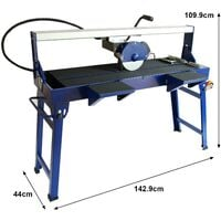 Wet Saw Tile Cutter Stand Bench Bridge Table Electric Frame Diamond Blade Cutting 1200mm 1400W