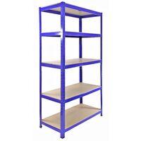 Monster Racking T-Rax Heavy Duty Garage Storage Shelves, 90cm W, 45cm D (Blue)