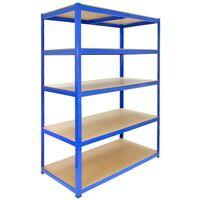 Monster Racking T-Rax Strong Storage Shelves, Blue, 120cm W, 60cm D