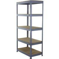 Monster Racking Q-Rax Steel Storage Shelving Bays, 90cm W, 50cm D (Grey)