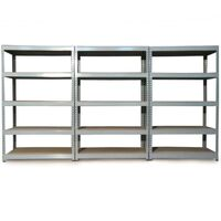Monster Racking Q-Rax Boltless Garage Storage Shelves, 120cm W, 50cm D (Grey)
