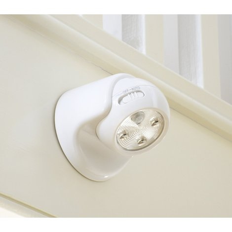 Auraglow Battery Operated Motion Activated PIR Sensor Removable Cordless LED Security Light - White