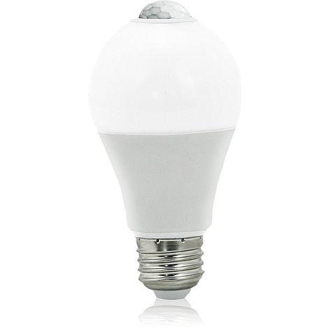 Auraglow 12W Indoor PIR Detector Motion Activated Sensor LED Light Bulb 75W EQV – E27