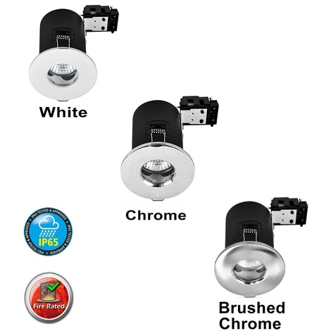 Fire Rated IP65 Bathroom Downlight Fitting
