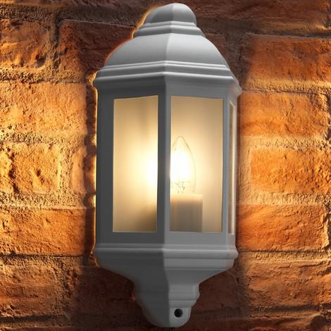 Auraglow Outdoor Wall Lantern Retro Vintage Garden Light - Warm White LED Filament Light Bulb Included