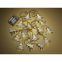 Auraglow Set of 15 Battery Operated Indoor Christmas LED Festive String Lights - Xmas Trees