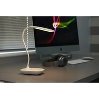 Auraglow Wireless Rechargeable Flexible Adjustable Gooseneck LED Desk Lamp, Touch Control Dimmable Reading Light for Home, Office, Work and Study