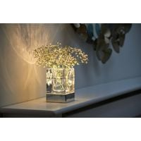 Auraglow Rechargeable Cordless Wireless Colour Changing & White Light LED Glass Table Lamp – VASE