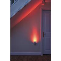 Auraglow Plugin GU10 Spotlight Uplighter Wall Wash Light Plug Socket Lamp with Colour Changing LED Bulb & Remote