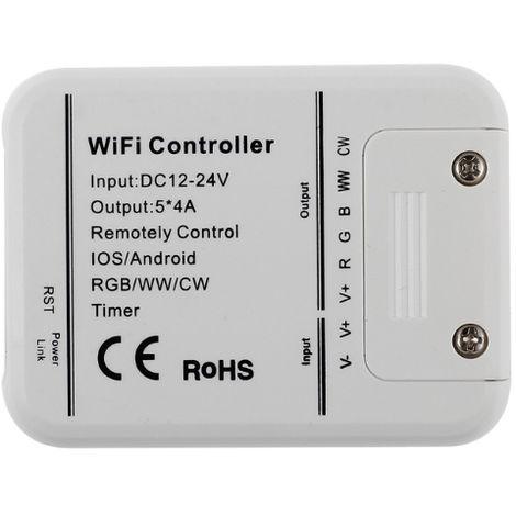 Controlador Wifi RGB+WW+W - App Magic Home