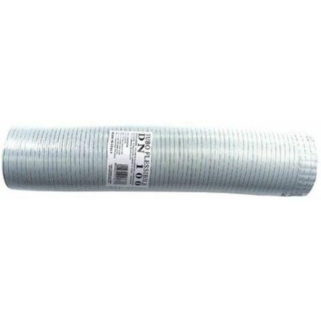 Tube flexible extensible aluminium blanc 160 mm de 1 à 3 mt.