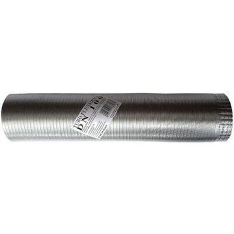 Tube flexible extensible aluminium naturel 160 mm 1-3 mt.