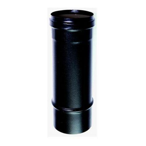 Cheminée noir DN 80 0,5mt émail noir 600° poêle granulés CE