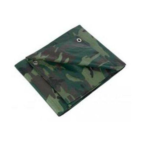 Bâche de protection camouflage 5,40x8 m 130gr/m2