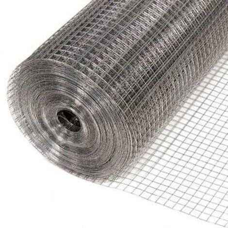 Grillage galvanisé soudé maille carrée pour volière 1m x 25 m