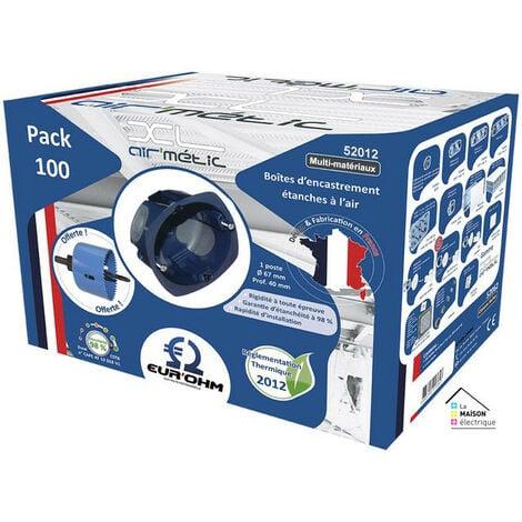 Lot de 100 boites multimatériaux Air'métic d67 p40 (52012)