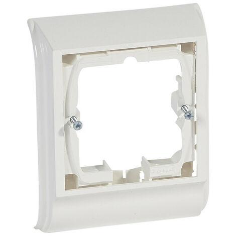 Cadre Mosaic 2 modules pose sur plinthe DLPlus épaisseur 20mm blanc (031664)