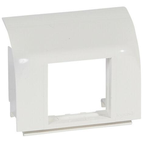 Support Mosaic 2 modules pour pose sur plinthe DLP 140x35mm blanc (031669)