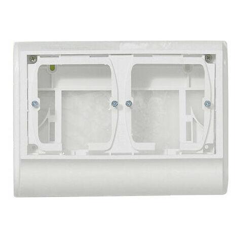 Support Mosaic 4 modules pour pose sur plinthe DLP 20mm blanc (031693)