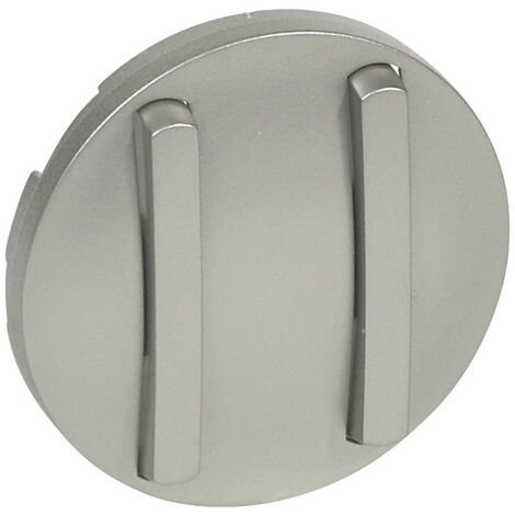 Enjoliveur étroit Céliane pour double interrupteur, va-et-vient ou poussoir finition titane (065102)