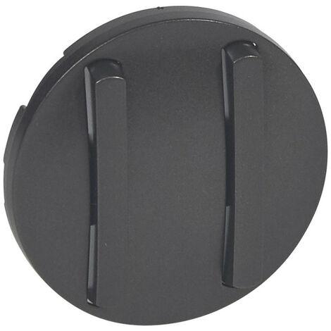 Enjoliveur étroit Céliane pour double interrupteur, va-et-vient ou poussoir finition graphite (065202)