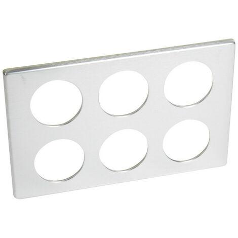 Plaques Céliane Aluminium - Plaque Céliane Métal 2x3 postes finition Aluminium (068920)