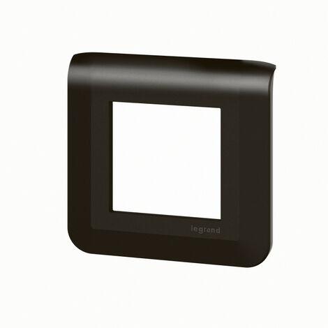Plaque de finition Mosaic pour 2 modules noir mat (079042L)