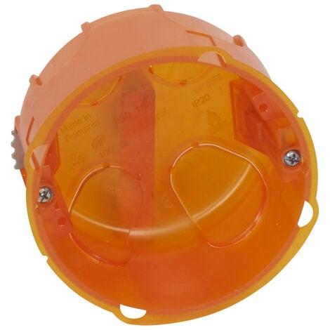Boîte d'encastrement simple Batibox multimatériaux diamètre 80mm profondeur 50mm (080188)