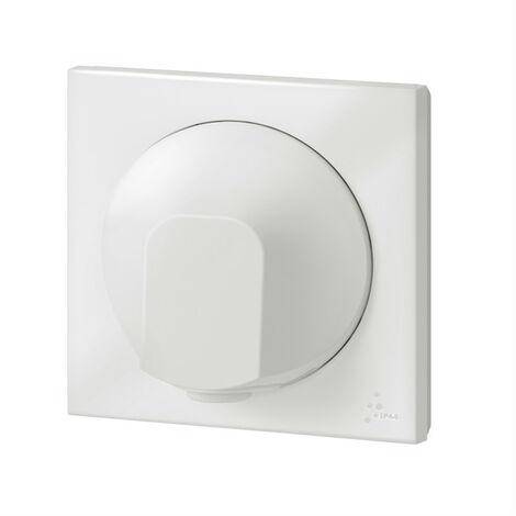 Sortie de câble IP44 dooxie livrée complète finition blanc emballage blister (095019)